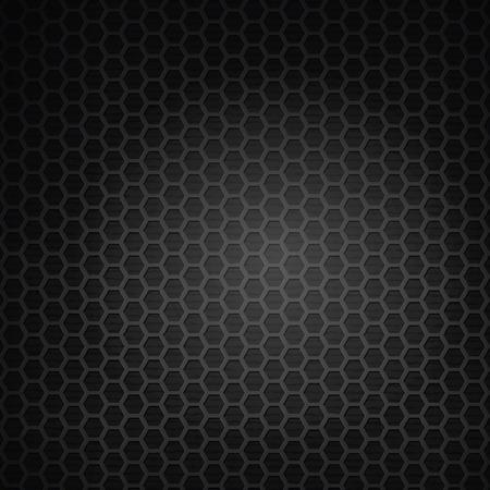 dark texture: hex�gono parrilla de fondo negro