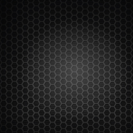 metal grid: hexagon black grill background