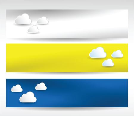 web header: Cabecera del Web conjunto de nubes
