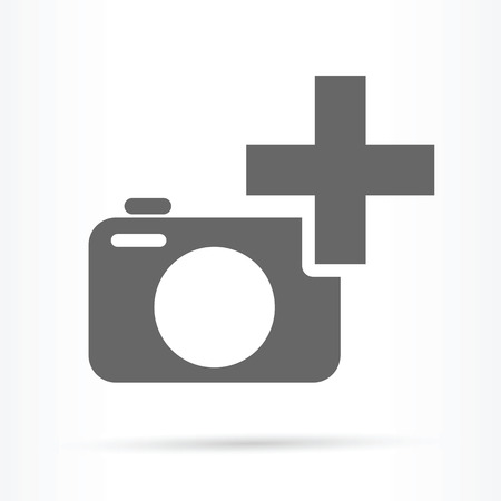 camera plus sign icon add image  Çizim