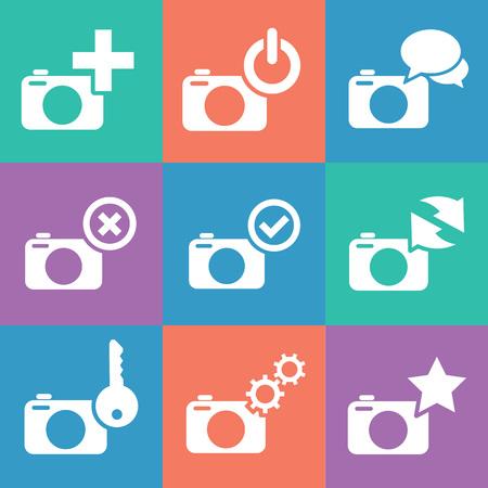 web icons: camera web icons set