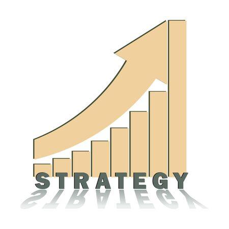 trend: strategic positive trend growth vector illsutation isolated on white Illustration