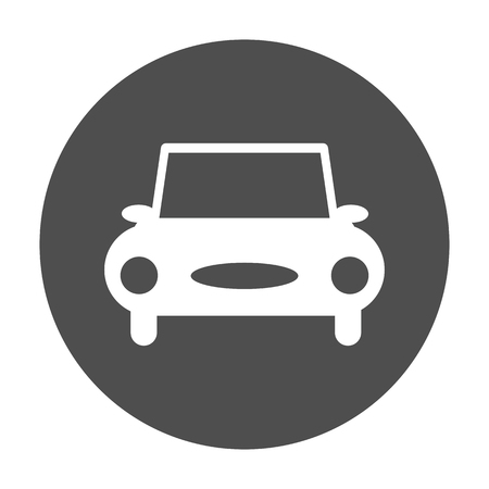 round: car icon round vector illustration Illustration