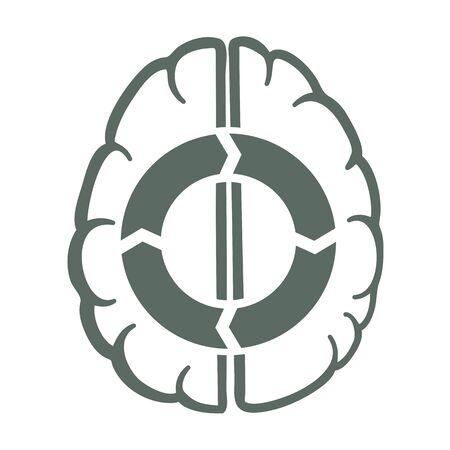 idea generation: endless idea generation cycle in human brain vector illustration