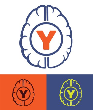 generation y: human brain generation y new people mindset concept symbol vector illustration