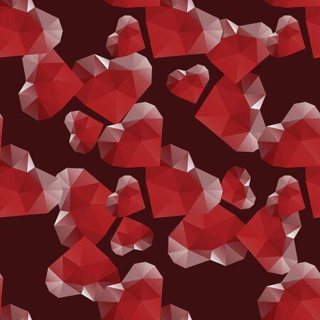 diamond heart: diamond heart seamless pattern abstract decorative vector design