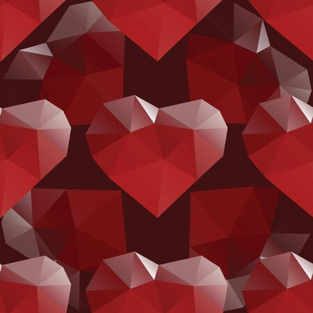 heart diamond: Abstract heart diamond seamless pattern vector design