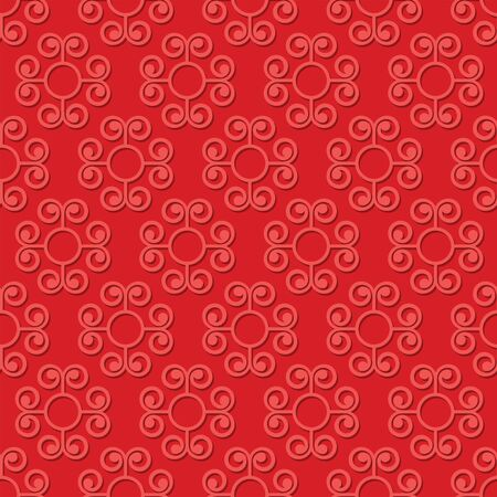 swirly: Abstract swirly red seamless pattern background