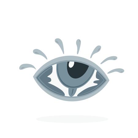 hand lettering: hand lettering word eye in eye symbol creative vector design