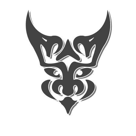 mystic: mystic chimera face fantasy vector design