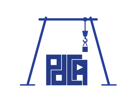 proper: abstract crane build pdca letters as proper business process building vector design
