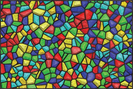 bright color: bright color mosaic glass vector design horizontal background Illustration