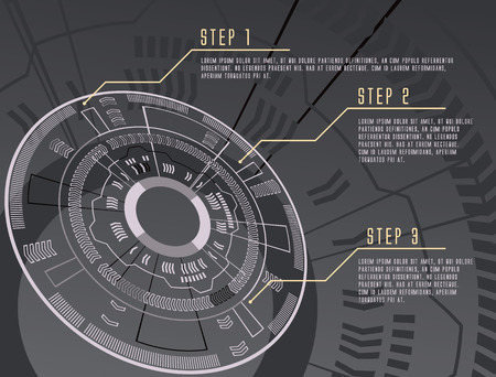 gear background: grayscale color techno gear background vector infographic design illustration