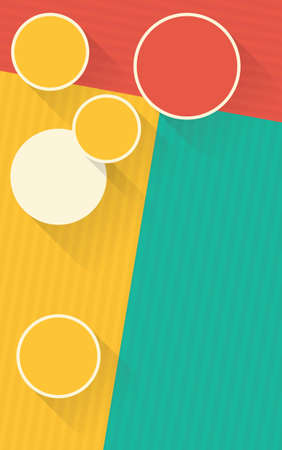 shadowed: red yellow green vertical background with shadowed circles creative vector design banner template Illustration