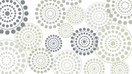 cerchi punteggiati orizzontale vettoriale astratto