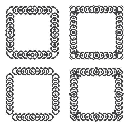 grayscale: abstract frames grayscale set illustration