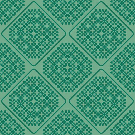 green cross: abstract green cross knot seamless pattern vector background