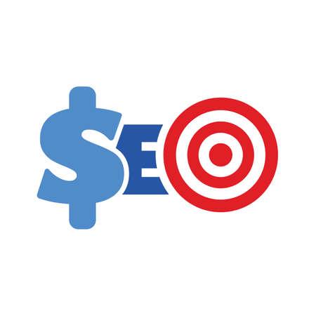monetization: word seo target symbol website optimization monetization concept illustartion Illustration