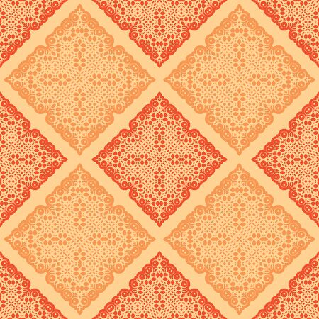motive: abstract orange yellow color oriental motive seamless pattern illustration