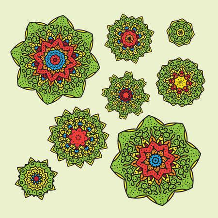 mandalas: coloring mandalas patterns vector set design illustration Illustration