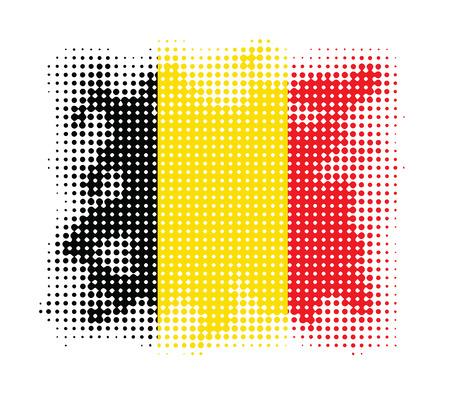 belgium flag: Belgium flag symbol halftone vector background illustration