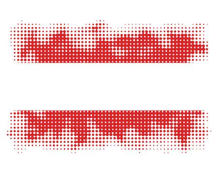 austrian flag: austrian flag symbol halftone vector background illustration