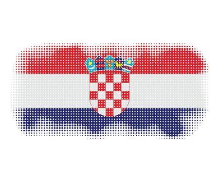 croatia flag: Croatia flag symbol halftone vector background illustration