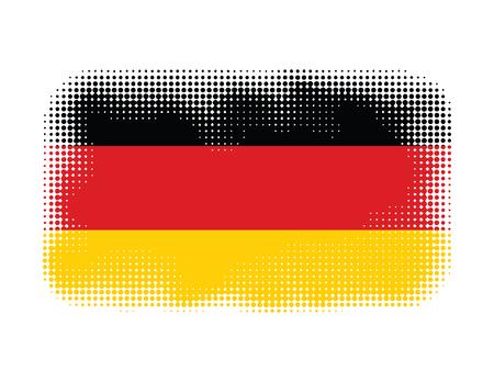 germany flag: Germany flag symbol halftone vector background illustration