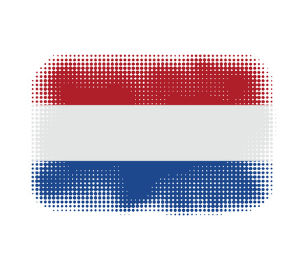 holland flag: Holland flag symbol halftone vector background illustration Illustration