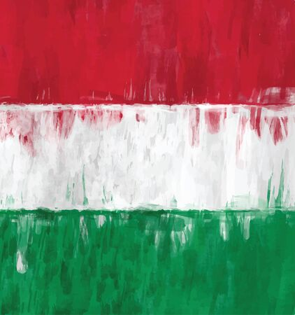 hungarian: hungarian flag sketchy painting vector background illustration