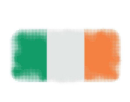 ireland flag: Ireland flag symbol halftone vector background illustration Illustration