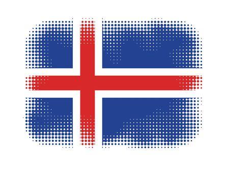 iceland flag: Iceland flag symbol halftone vector background illustration Illustration