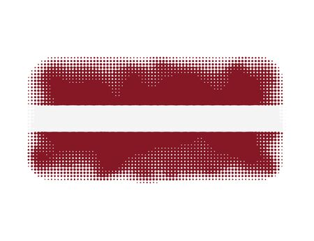latvia flag: Latvia flag symbol halftone vector background illustration