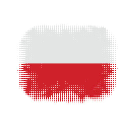 poland flag: Poland flag symbol halftone background illustration