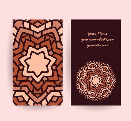 absract: absract mandala flower symbol card background illustration