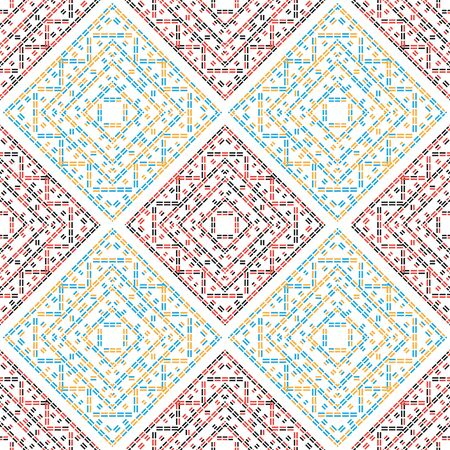 dashed: abstract dashed color lines seamless pattern background Illustration