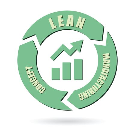 lean: lean manufacturing concept vector design illustration Illustration