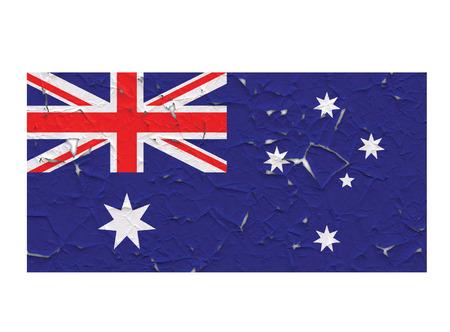 australia flag: Australia flag symbol peeling vector background illustration