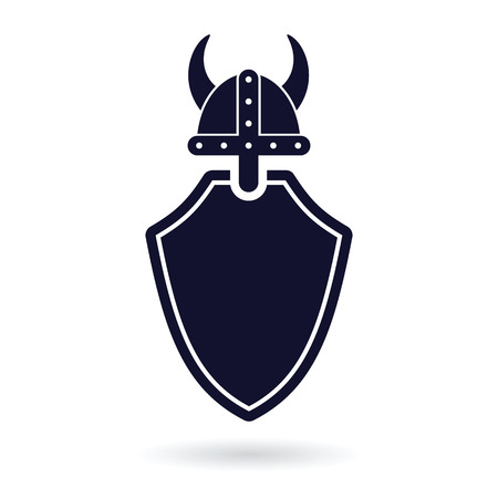 safeguards: viking shield protection abstract vector  illustration