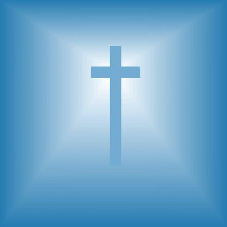 cristian cross over bright light abstract religion illustration