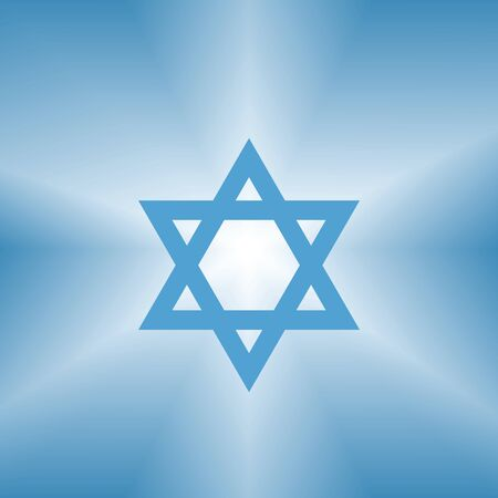 shining david star abstract blue background