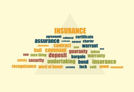 related: insurance related words abstract vector illustration