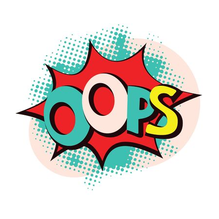abstract vector oops pop style art illustration
