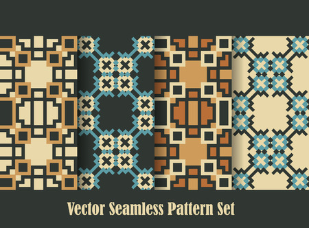backdrops: retro squares ornament backgrounds seamless patterns collection for wallpaper and backdrops
