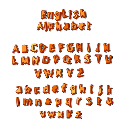 english letters: English Alphabet letters set vector illustration Illustration