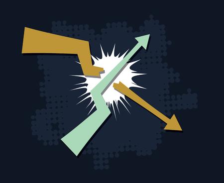 trends break symbol financial market success concept abstract vector illustration Illustration