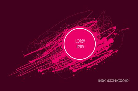 blob: Paint blob grunge design. Vector background. Stain splatter element. Illustration