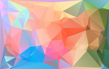 A Triangle mosaic low polygonal abstract background. Vector illustration. Colorful polygon gradient futuristic horizontal pattern. Çizim