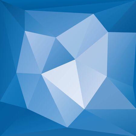 Bright blue gradient decorative square background. Vector illustration. Magic fantasy bright decor template.