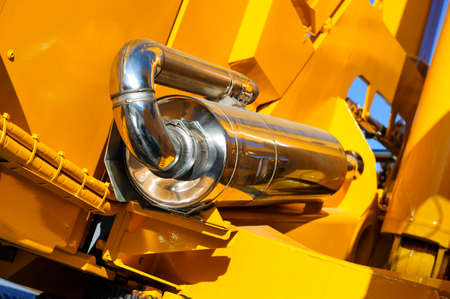 front end loader: Spark arrestor, equipment for construction machines such as bulldozer, tractor, excavator, mobile crane, front end loader, heavy industry